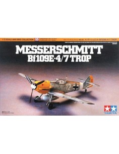 Tamiya - 60755 - Messerschmitt Bf109E-4/7 Trop  - Hobby Sector