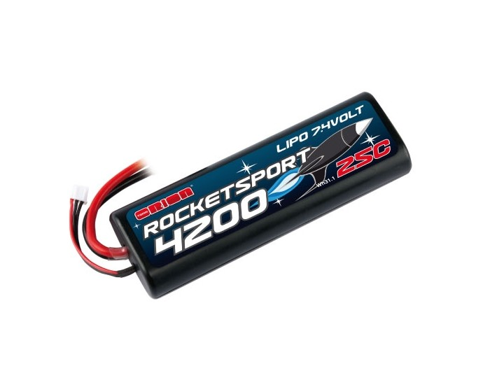 7.4V 4200mAh 2S LiPo 25C Rocket Sport - Multi Plug