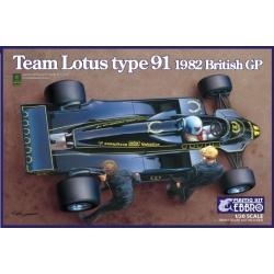 Team Lotus type 91 British GP 1982