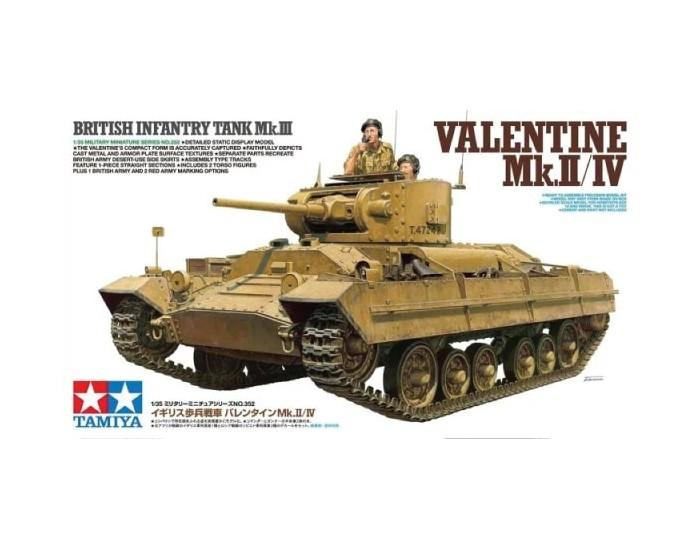 Tamiya - 35352 - British Infantry Tank Mk.III Valentine Mk.II/ IV  - Hobby Sector