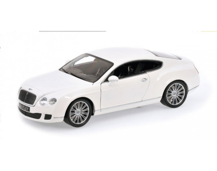 Minichamps - 100139621 - BENTLEY CONTINENTAL GT - 2008 - WHITE  - Hobby Sector