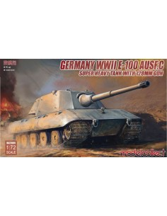 Germany WWII E-100 Ausf.C Heavy Tank with 128mm gun