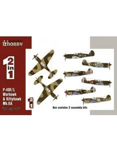 "Special Hobby - SH72211 - P-40F/L & Kittyhawk Mk. IIA ""RAF and FAFL"" 2 in 1  - Hobby Sector"