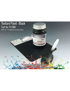 Black Textured Paint (Engines, Interiors etc) 60ml (Pre-thinned)