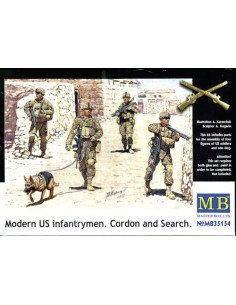 Modern US Infantrymen Cordon and Search