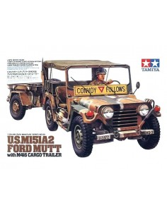 U.S. M151A2 Ford MUTT with M416 Cargo Trailer