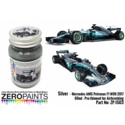 Mercedes AMG Petronas F1 W08 2017 Silver Paint 60ml (Pre-thinned)