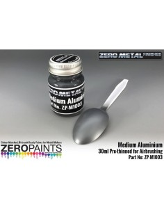 Medium Aluminium Paint Zero Metal Finishes 30ml (Pre-thinned)