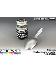 Aluminium Paint Zero Metal Finishes 30ml (Pre-thinned)
