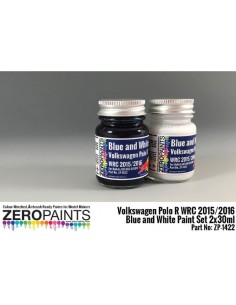 VW Polo R WRC 2015 Blue + White Paints 2x30ml (Pre-thinned)