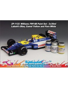 Williams Renault FW14B - Labatt's Blue + Camel Yellow + Pure White Paints Set 3x30ml (Pre-thinned)