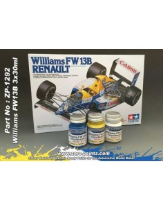 Williams Renault FW13B - Blue + Yellow + White Paints Set 3x30ml (Pre-thinned)