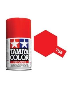 Tamiya - TS-8 - Italian Red 100ml Acrylic Spray  - Hobby Sector