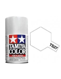 Tamiya - TS-27 - Matt White 100ml Acrylic Spray  - Hobby Sector