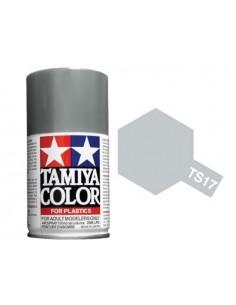 Tamiya - TS-17 - Gloss Aluminium 100ml Acrylic Spray  - Hobby Sector