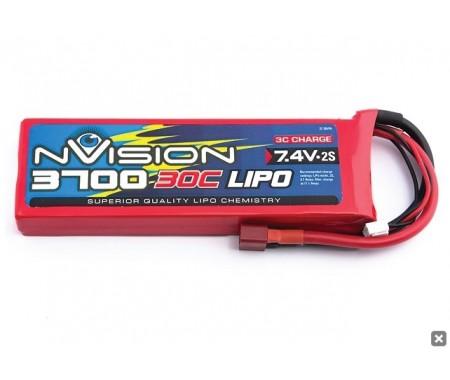 7,4V 3700mAh 2S Lipo 30C Deans Plug