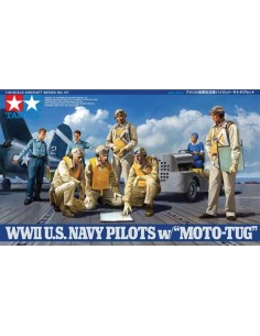 WWII U.S. Navy Pilots with Moto-Tug