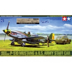 North American P-51D Mustang & U.S. Army Staff Car