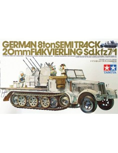 German 8Ton Semi Track 20mm Flakvierling SD.KFZ 7/1
