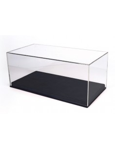 Display Case 1/18 Black Leatherette Base