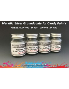 Extra Fine Metallic SILVER Groundcoat for Candy Paints 60ml (Pre-thinned)