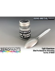 Light Aluminium Paint Zero Metal Finishes 30ml (Pre-thinned)
