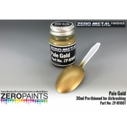 Pale Gold Paint Zero Metal Finishes 30ml (Pre-thinned)