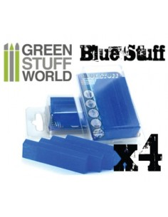Green Stuff World - 8436554365142ES - Blue Stuff Mold 4 bars  - Hobby Sector