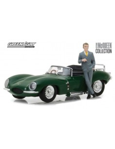 JAGUAR XKSS 1956 WITH STEVE MCQUEEN FIGURINE