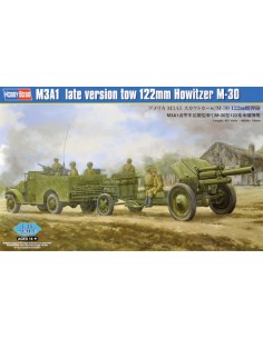 Hobby Boss - 84537 - M3A1 Late Version Tow 122mm Howitzer M-30  - Hobby Sector