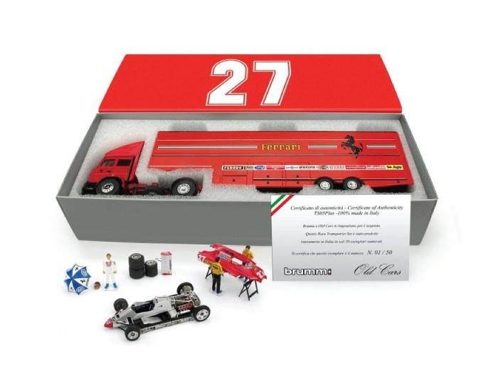 Race Transporter Set Scuderia Ferrari Villeneuve G.P. San Marino 1982
