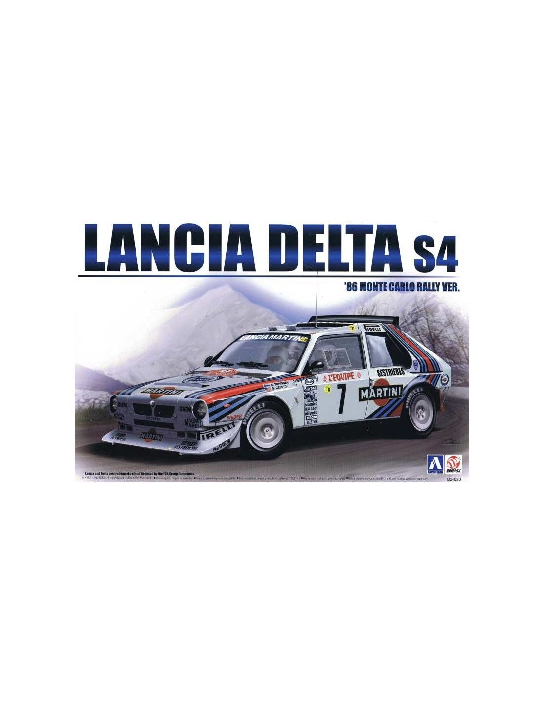 Aoshima B24020 1 24 Lancia Delta S4 1986 Monte Carlo