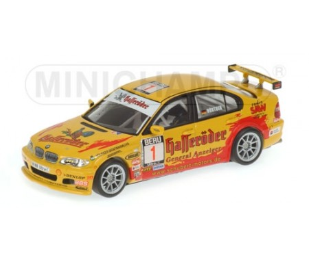 minichamps bmw 320i claudia h rtgen champion team schubert motors dmsb 2004. Black Bedroom Furniture Sets. Home Design Ideas