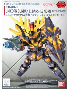 SD RX-0 (N) Unicorn Gundam 02 Banshee Norn (Destroy Mode)