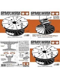 Tamiya - 74522 - SPRAY-WORK PAINTING STAND SET  - Hobby Sector