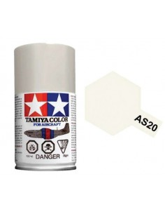 Tamiya - AS-20 - INSIGNIA WHITE (USN) 100ml Acrylic Spray  - Hobby Sector