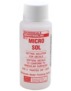 Microscale Industries - MI-2 - Micro Sol Setting Solution for Decals - 28ml  - Hobby Sector