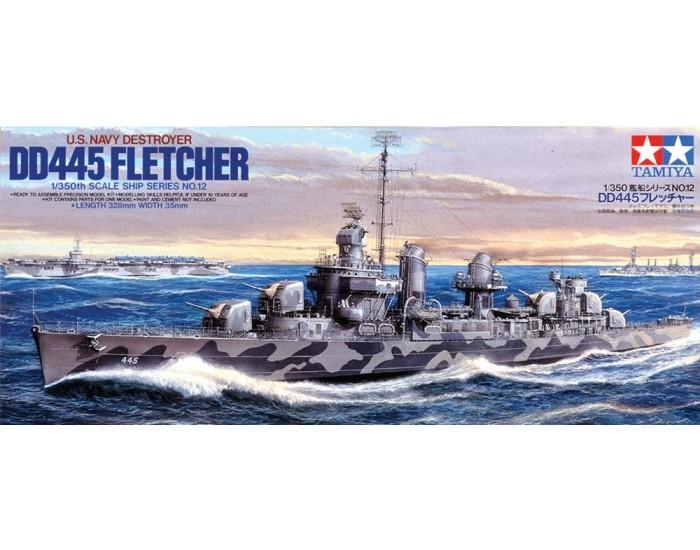 US Navy Destroyer USS DD-445 Fletcher