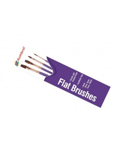 Humbrol - AG4305 - Humbrol - Flat Brush Pack - Size 3/5/7/10  - Hobby Sector