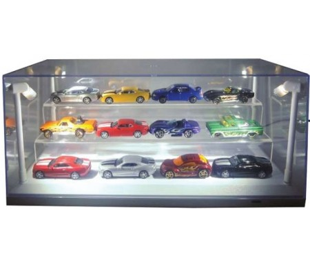 Showcase with Leds and Black Base for 1/64Models