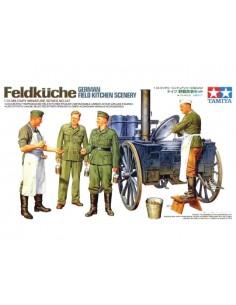 Tamiya - 35247 - Feldküche German Field Kitchen Scenery  - Hobby Sector