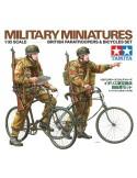 Military Miniatures British Paratroopers & Bicycles Set