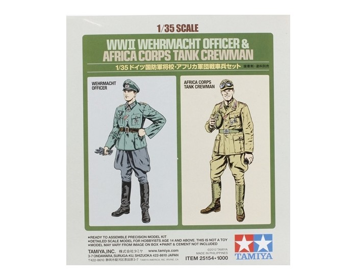 WWII Wehrmacht Officer & Africa Corps Tank Crewman (2-Figure Set)