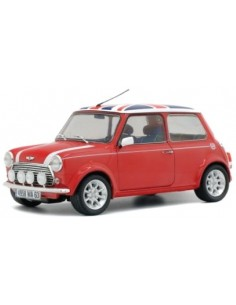 Solido - S1800604 - MINI COOPER SPORT 1997 - RED with UK FLAG  - Hobby Sector