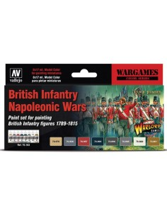 British Infantry Napoleonic Wars Paint Set x8