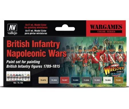 British Infantry Napoleonic Wars Paint Set x8