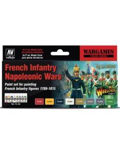 French Infantry Napoleonic Wars Paint set x8