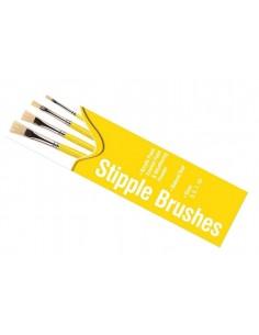 Humbrol - AG4306 - Humbrol - Stipple Brush Pack - Size 3/5/7/10  - Hobby Sector