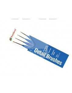 Humbrol - AG4304 - Humbrol - Detail Brush Pack - Size 00/0/1/2  - Hobby Sector
