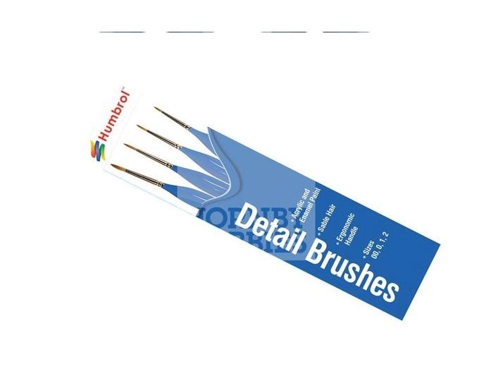 Humbrol - AG4304 - Humbrol - Detail Brush Pack - Size 00/0/1/2  - Hobby Sector
